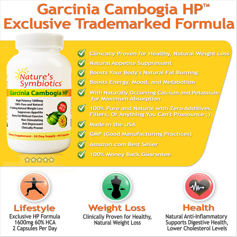 Best Fat Burner and Appetite Suppressant -  Garcinia Cambogia HP - Garcinia Cambogia with 60 HCA